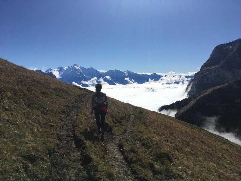 Nata et le Mont Blanc