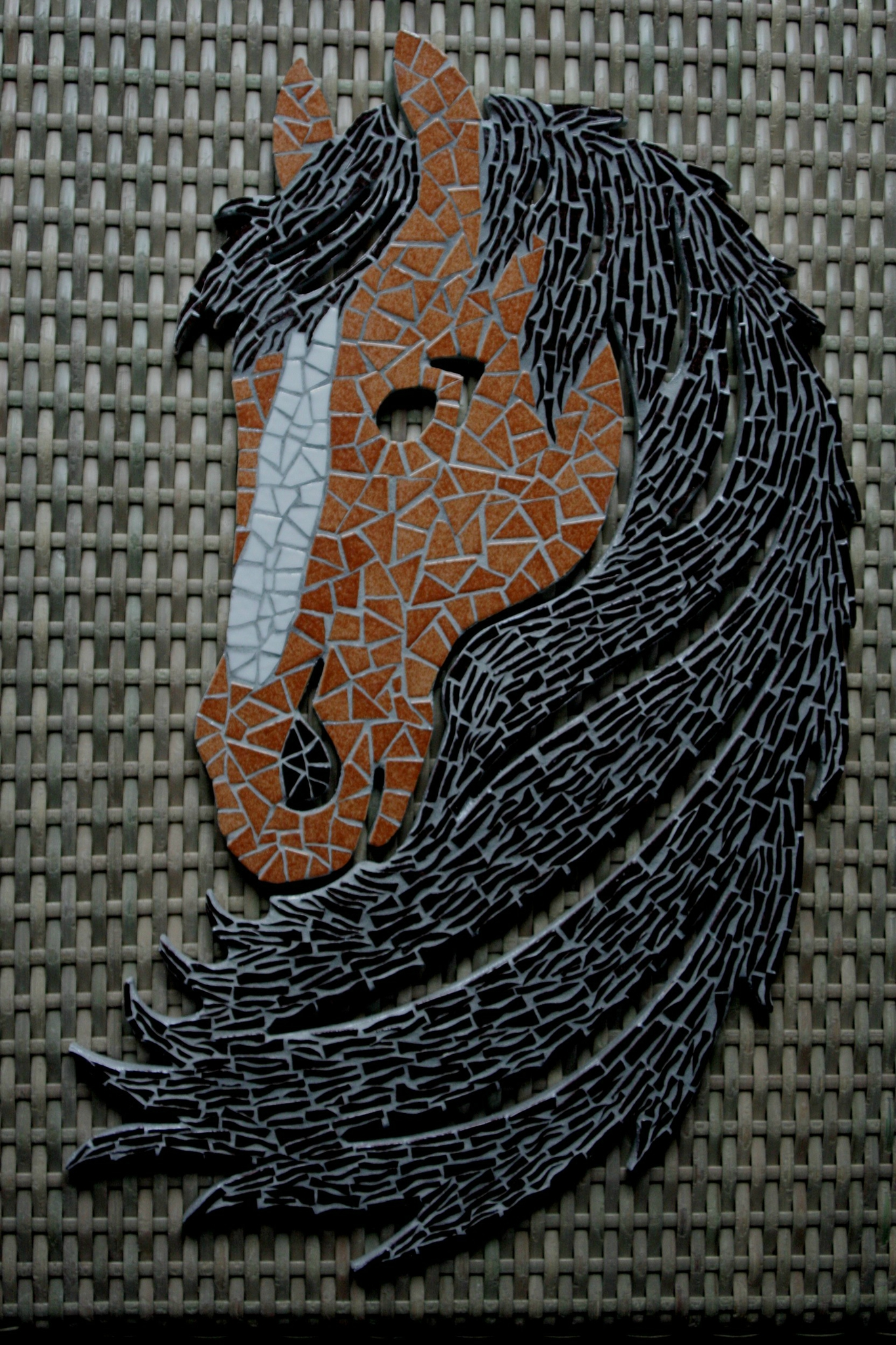 cheval mosaique photo de mosaiques murales florence olmi mosa que d 39 art cransac aveyron. Black Bedroom Furniture Sets. Home Design Ideas