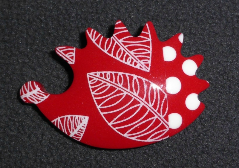 SOLY CAT - BROCHE HERISSON PETITS POIS & FEUILLES