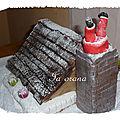 Gâteau père-noël dans la cheminée/santa claus chimney cake