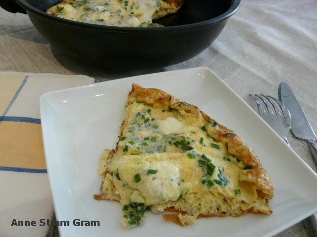 Omelette ciboulette mozzarella