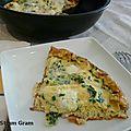 Omelette à la mozzarella et à la ciboulette