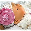 Bandeau bébé dentelle blanc