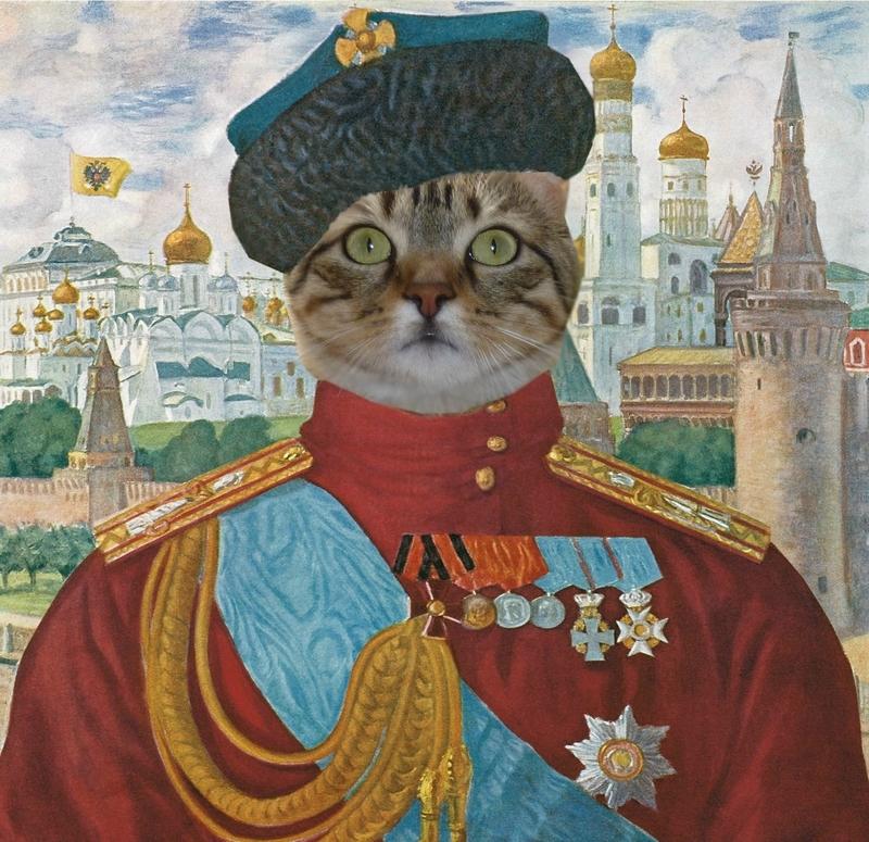 mon chat , tsar de toutes les russies