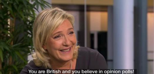 marine le pen bbc octobre 2016