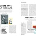 Belle présentation du dico dans montagnes magazine