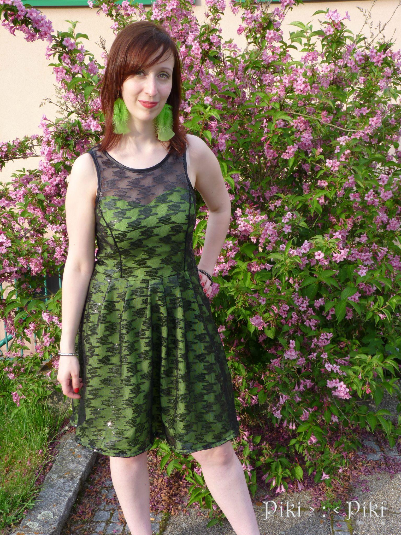 Robe verte pour aller un mariage piki for Robes pour aller au mariage