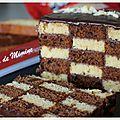 Ma participation au concours ker cadélac : gâteau damier facile et ultra rapide