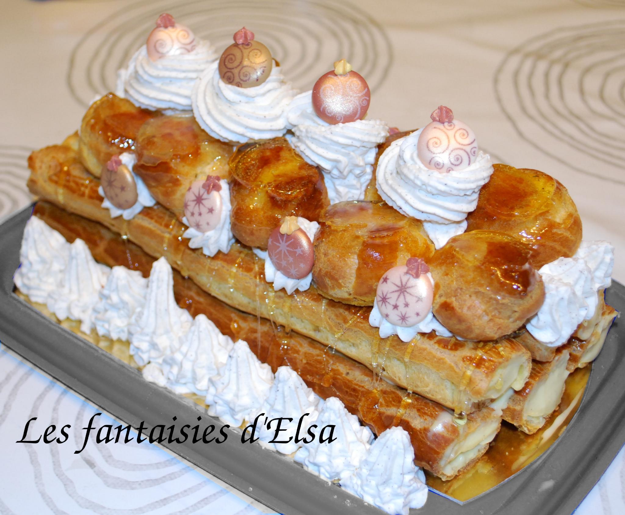 B che type saint honor les fantaisies gourmandes d 39 elsa - Petit plat en equilibre buche de noel ...
