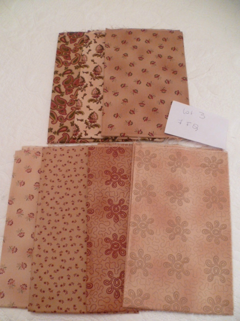 LOT 2: Lot de 7 Fat Quarters 22 euros