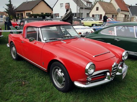 alfa romeo giulia spider 1962 randonnee internationale des vendanges de rustenhart 2012 3