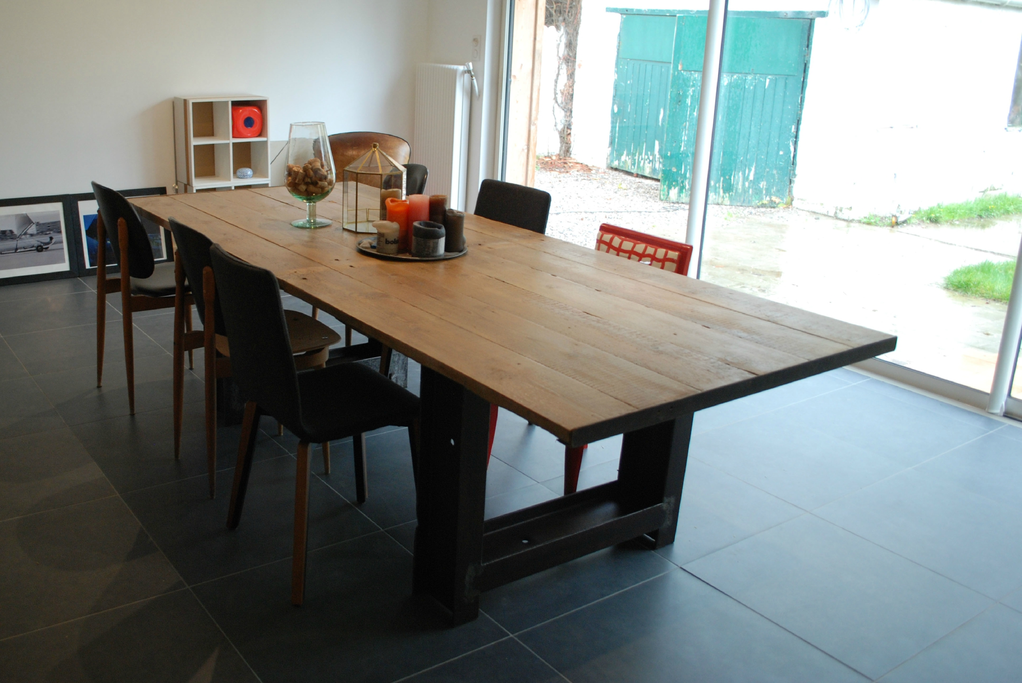 La table enfin les bricoleuzes for Plan pour table de jardin