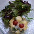 clafoutis tomate cerise chevre basilic