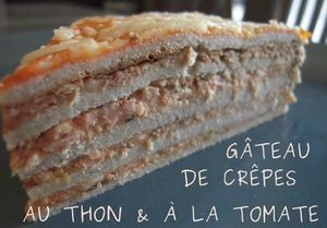 gateau crepes au thon