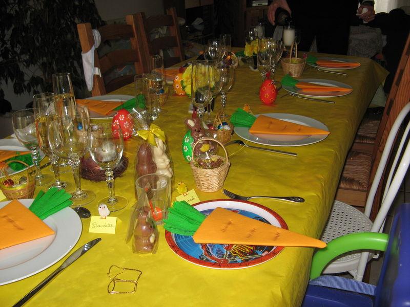 D coration de table pour p ques photo de d co le petit for Decoration pour paques