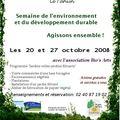 Semaine de l'environnement et du développement durable