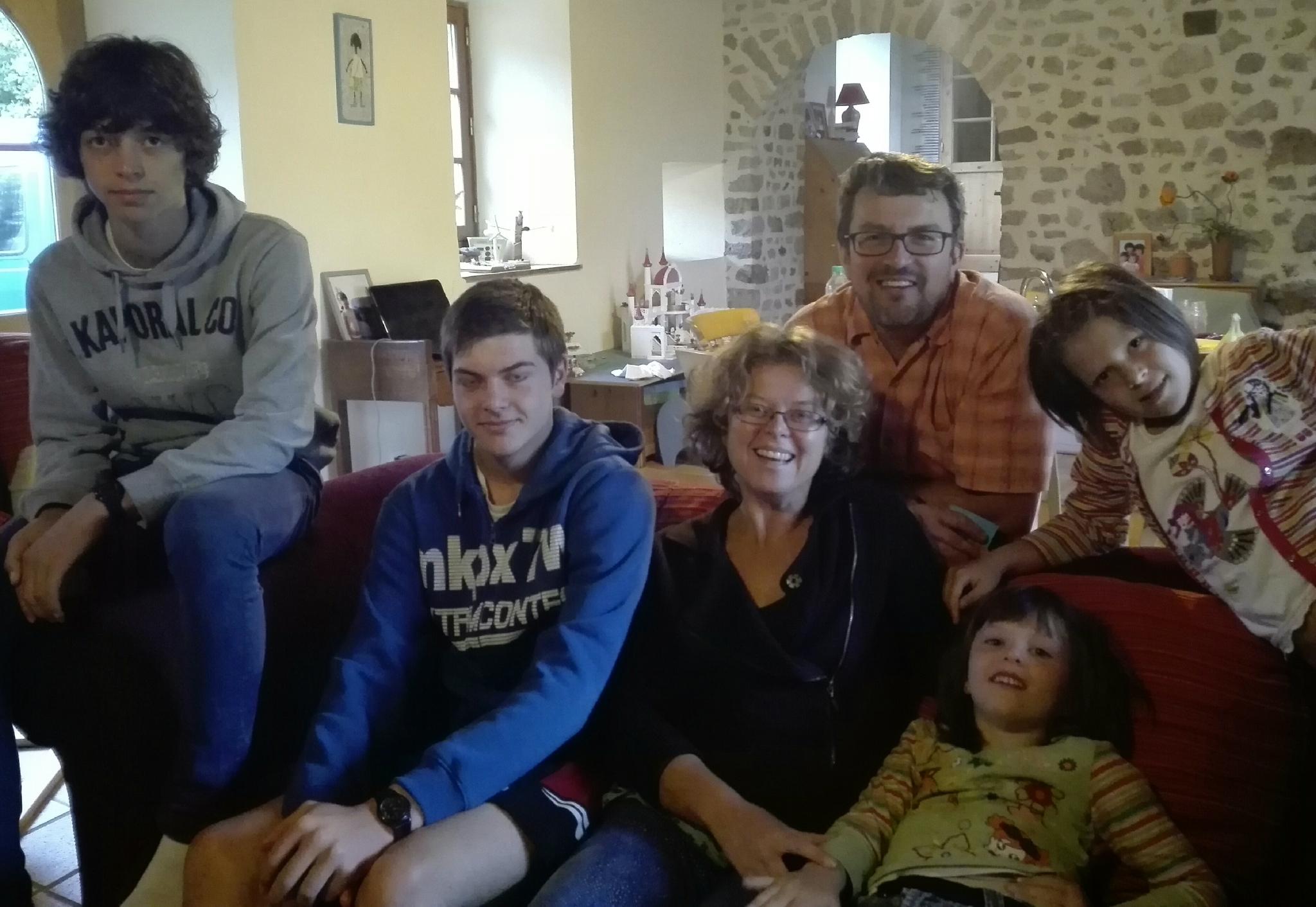 Géraldine, Jean-Luc, Tom, Robin, Violette et Maya, 11 septembre