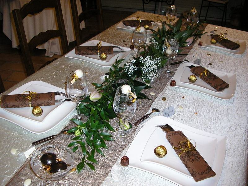 Deco table nouvel an simple - Decoration table reveillon jour de l an ...
