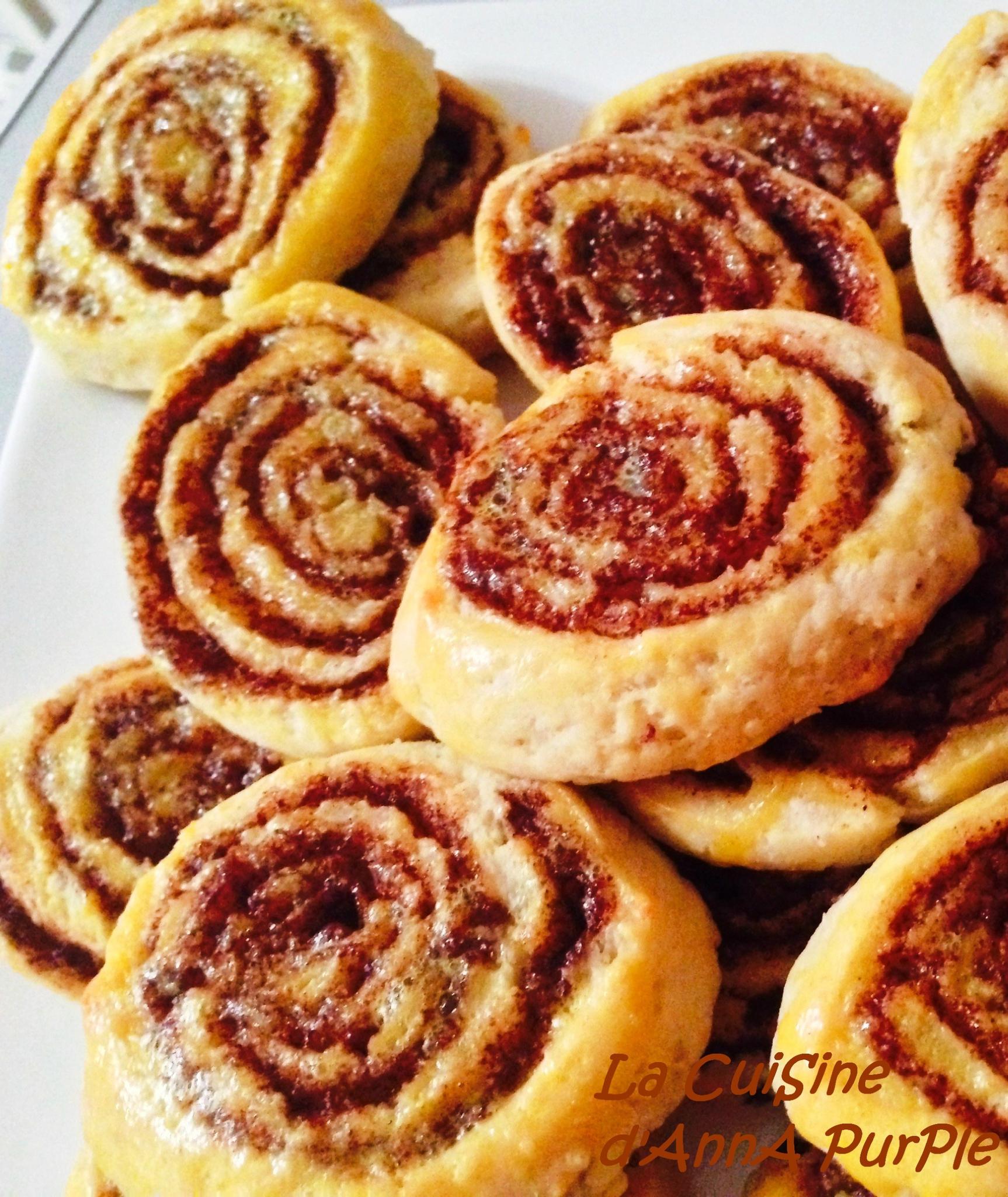 Cinammon rolls ou roulés à la cannelle