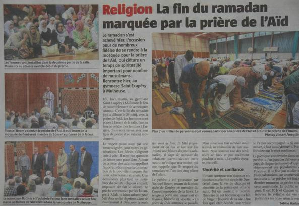 Journal L'Alsace Religion La fin du ramadan