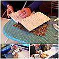 Atelier n° 6 - la housse de portefeuille / cahier - les photos