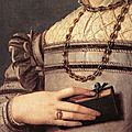 Portrait of a young girl (detail), 1541-45, agnolo bronzino