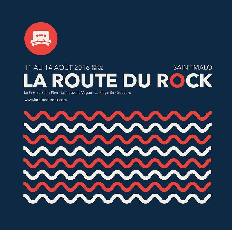 la Route du Rock festival 2016 Saint-Malo visuel logo affiche
