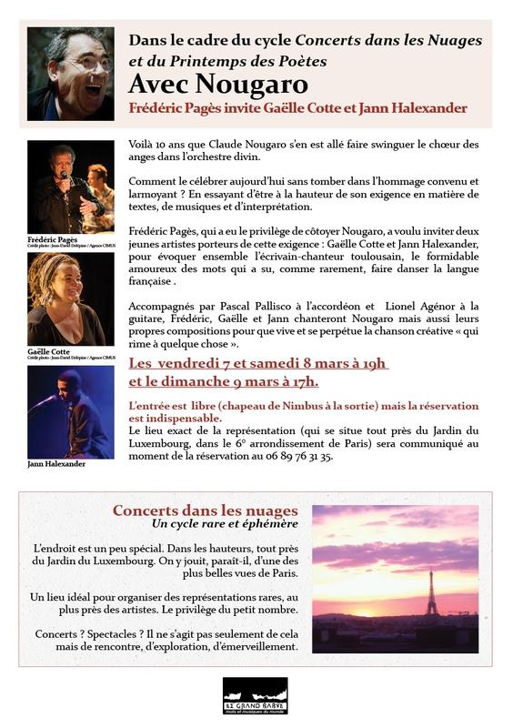 Affiche grand format Concert dans les Nuages