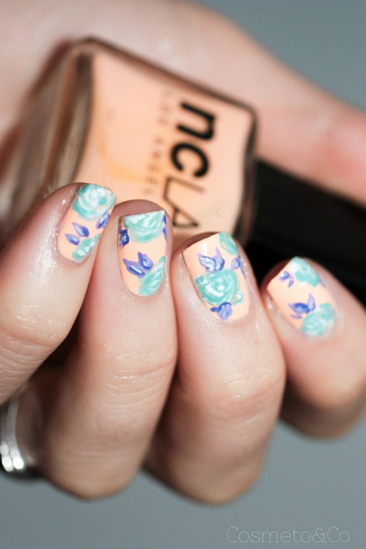 NCLA poolside party all eyes on me! flower nail art-6