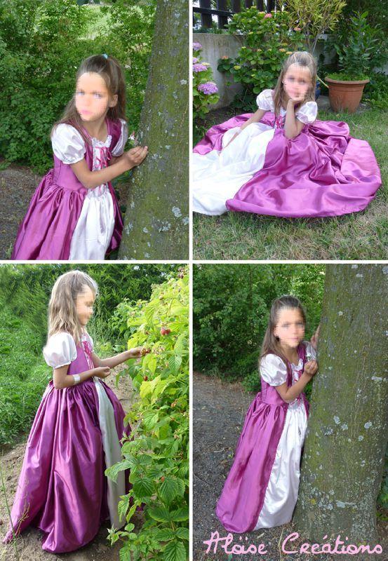 patron couture robe raiponce