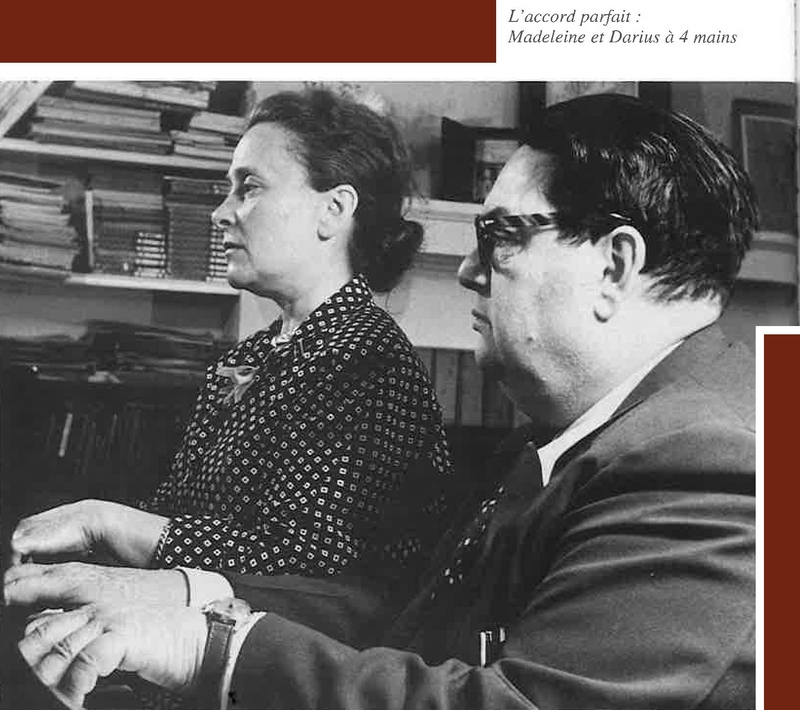 Milhaud et sa femme Madeleine copie
