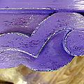 Pied de chevet art déco pâtiné