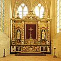Retable de l'abbaye de Graville (Seine-Maritime), qui évoque notamment Sainte-Honorine