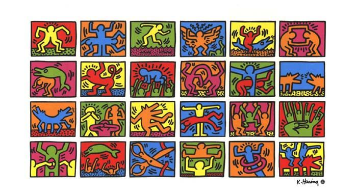 Super Keith Haring - Estelle Maternelle AO11