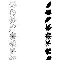 Jeu d'ombres sur les feuilles d'automne
