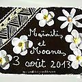 Brownie pour un mariage tahitien