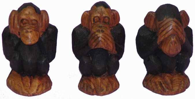 les 3 singes de la m ditation l 39 artisanat africain et. Black Bedroom Furniture Sets. Home Design Ideas