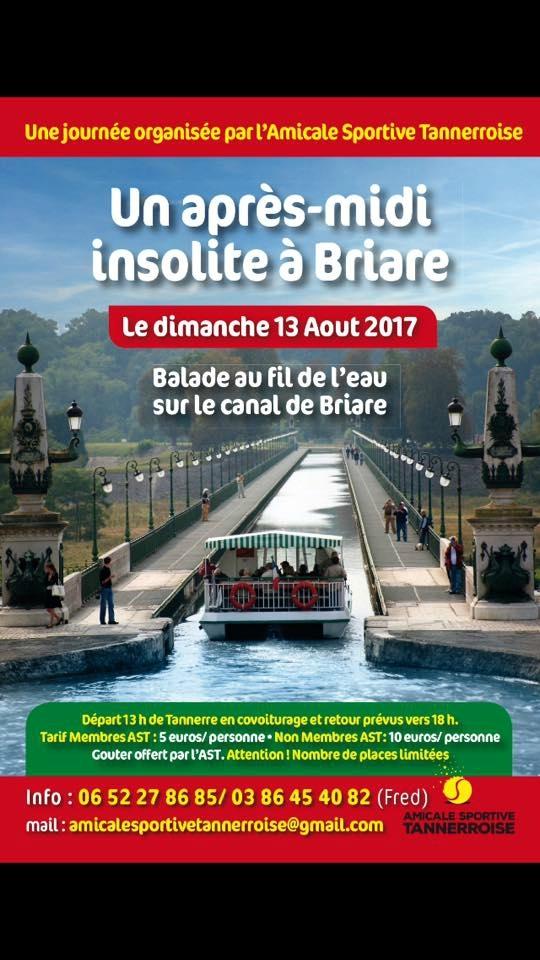 Dimanche 13 Août...allez vous balader à Briare...en bateau !