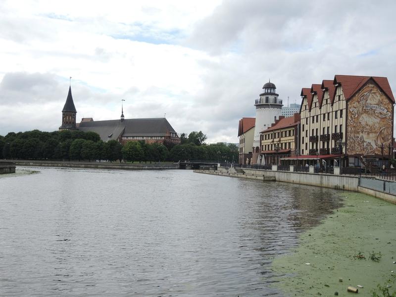 Kaliningrad, rives de la Pregolia, cathédrale de Königsberg (Russie)