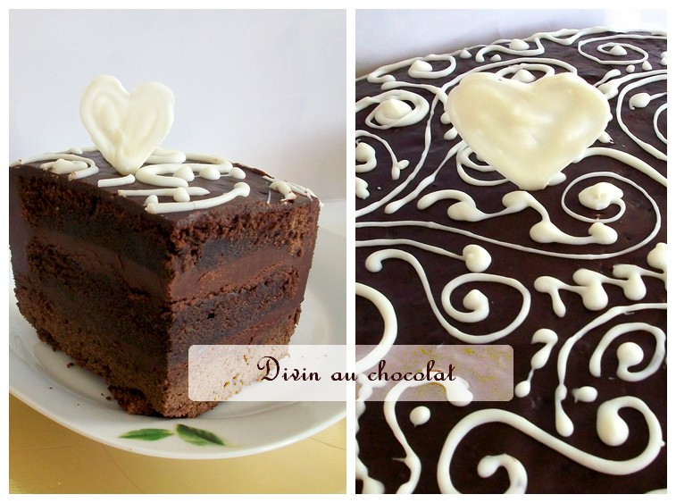 Decoration pour gateau au chocolat