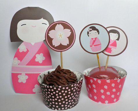 kokeshi cup cake 475