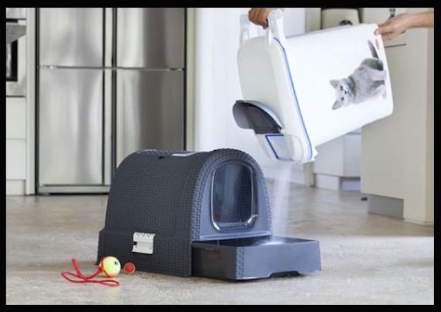 la compagnie des animaux curver maison toilette petlife litter box anthracite 3