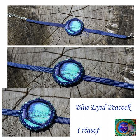 bracelet blue eyed peacock