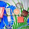 Full makeup look: ciel d'azur avec art deco.......