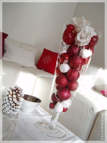 Decoration De Noel Blanc Et Rouge
