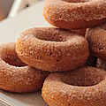 Donuts au potiron et à la cannelle - cuisson au four