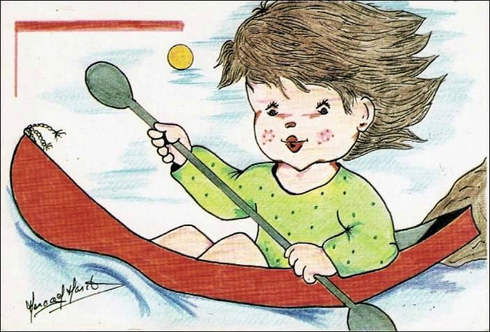 Carte Postale dessin d'enfant