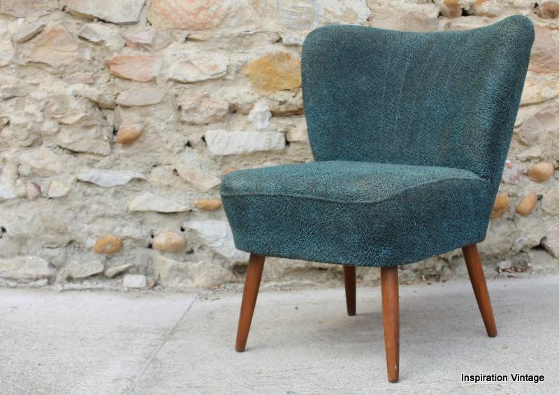 fauteuil cocktail 50 39 s bleu restaurer inspiration vintage. Black Bedroom Furniture Sets. Home Design Ideas