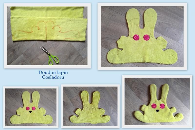 Doudou lapin microfibre