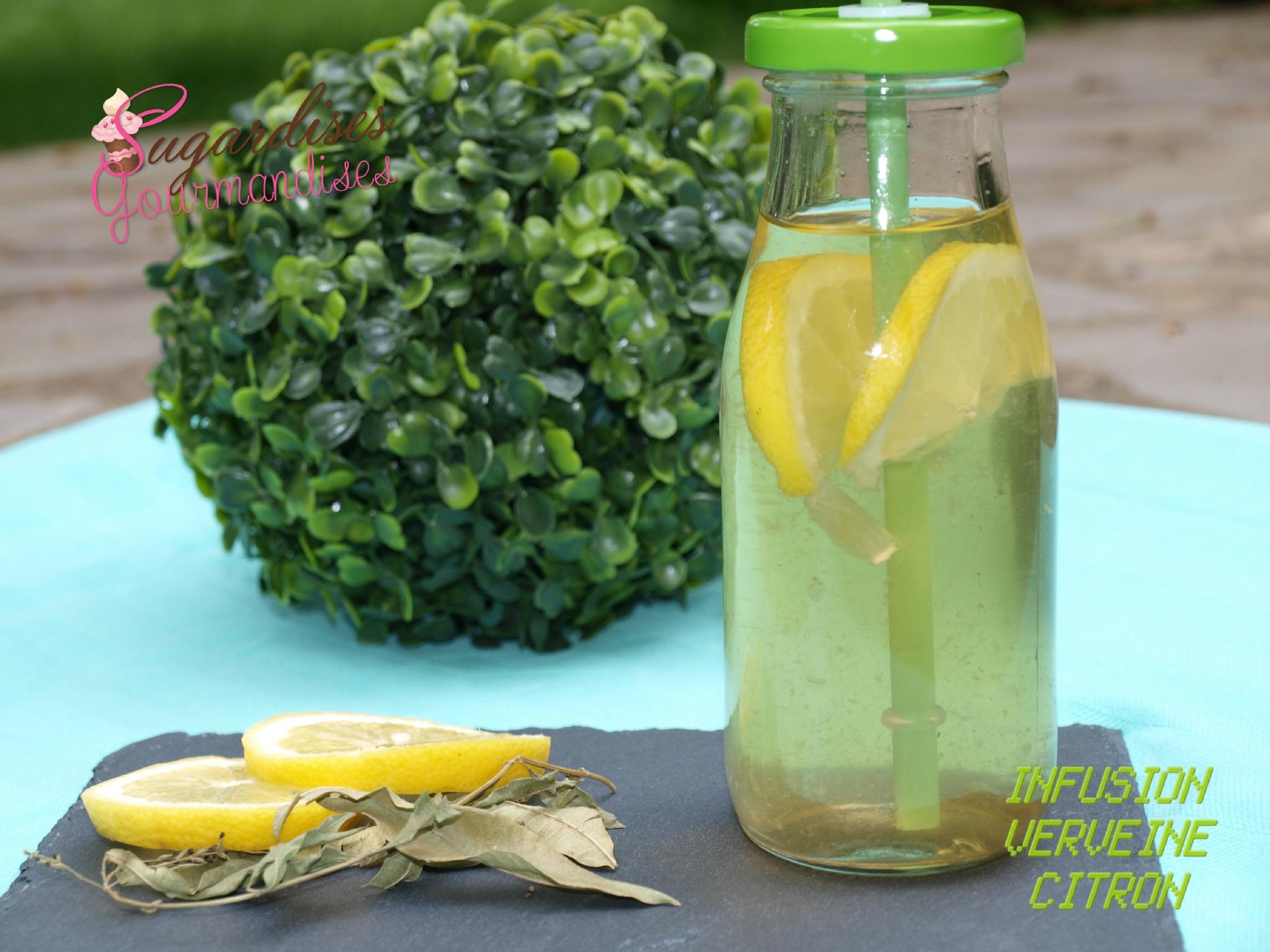 """INFUSION VERVEINE ET CITRON { defi culinaire """"le citron""""}"""